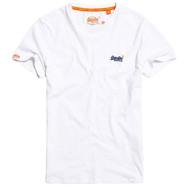 Superdry Orange Label Vintage Embroidered Tee in White