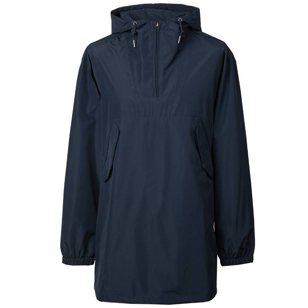 Pretty Green Overhead Seam Sealed Hooded Jacket in Navy