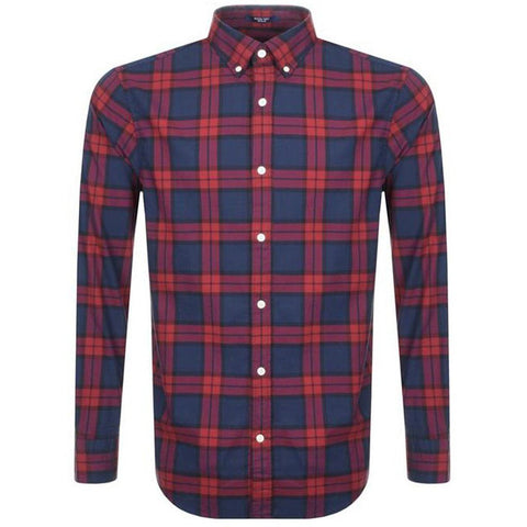 Gant Heather Oxford Gingham in Winter Wine Shirts Gant