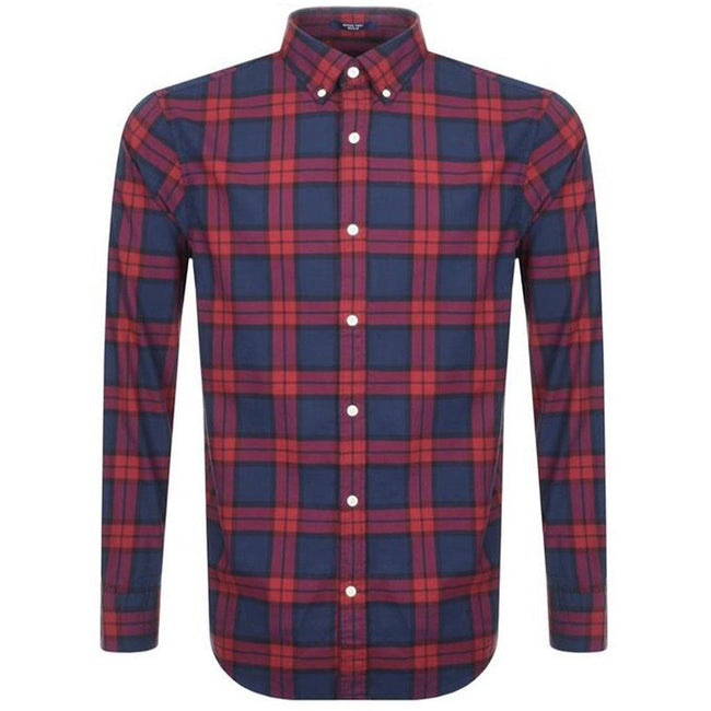 Gant Heather Oxford Gingham in Winter Wine
