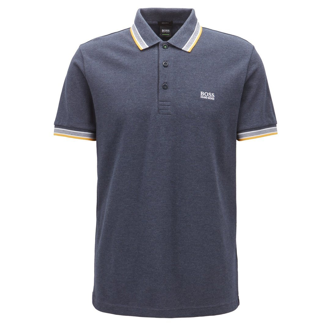 BOSS Athleisure Paddy Regulat Fit Polo Shirt in Grey Polo Shirts BOSS