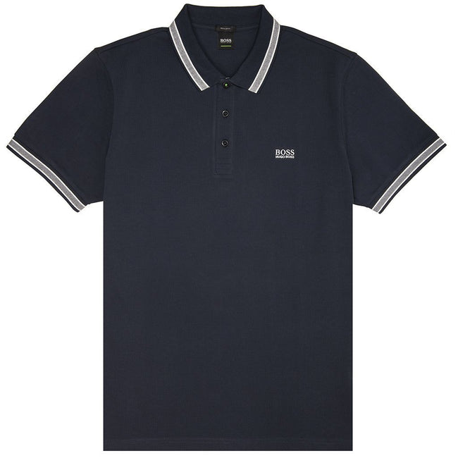 BOSS Athleisure Paddy Polo Shirt in Navy Polo Shirts BOSS
