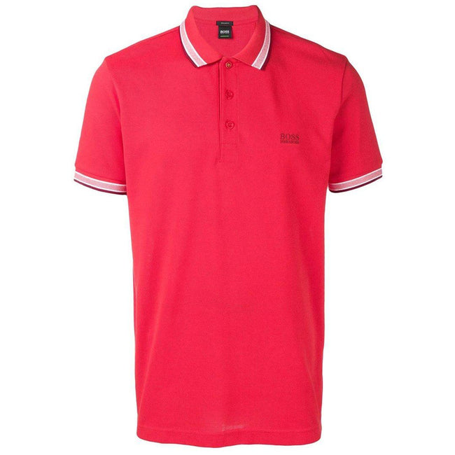 BOSS Athleisure Paddy Regular Fit Polo Shirt in Red