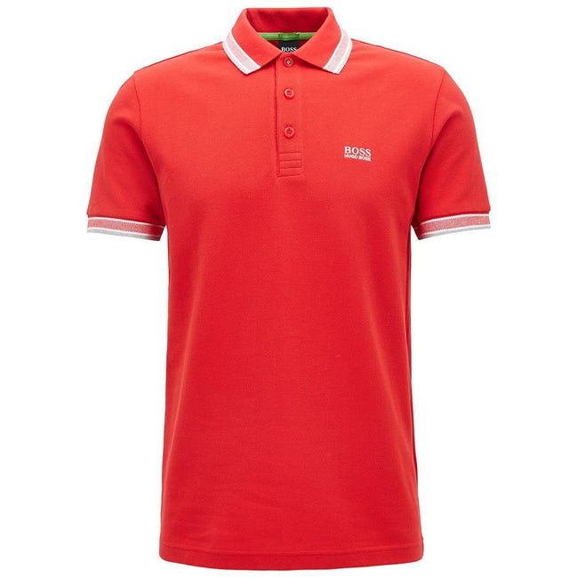 BOSS Athleisure Paddy Polo Shirt in Red Polo Shirts BOSS