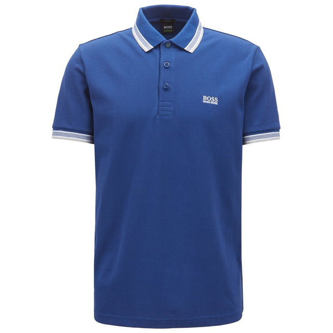 BOSS Athleisure Paddy Regular Fit Polo Shirt in Blue
