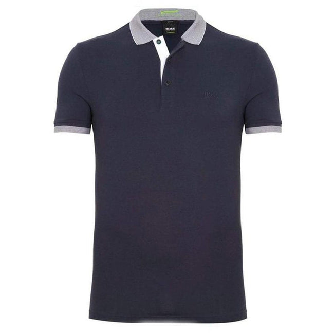 BOSS Paule Slim Fit Polo Shirt in Navy