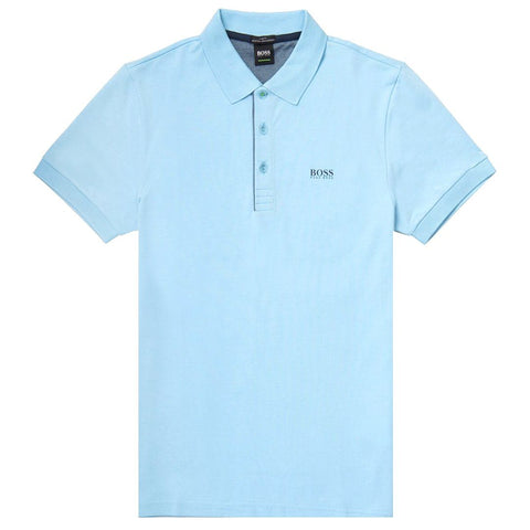 BOSS Paule Slim Fit Polo Shirt in Sky Blue Polo Shirts BOSS