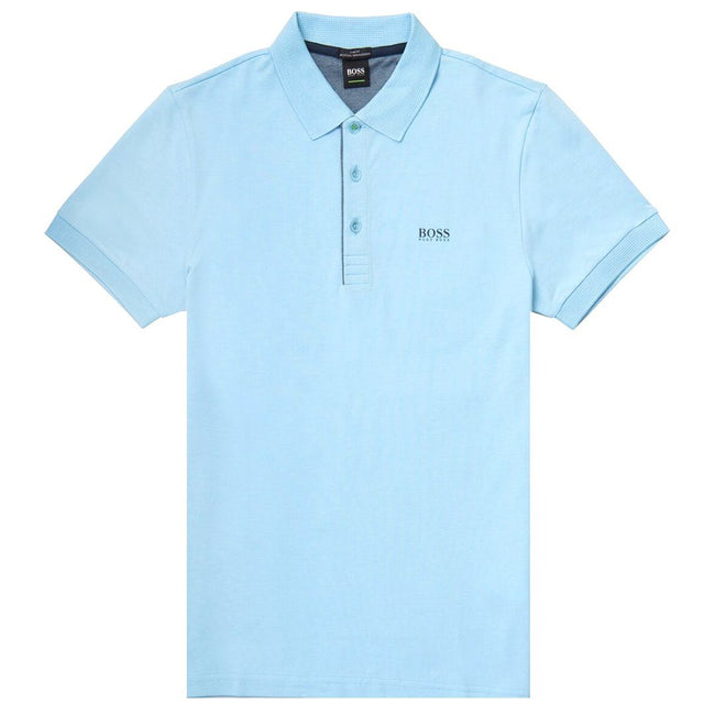 BOSS Paule Slim Fit Polo Shirt in Sky Blue