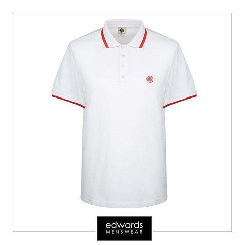 pretty green multistripe polo white