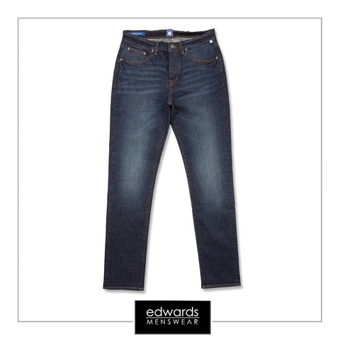Pretty Green Erwood Slim Fit Jeans in 6 Month Wash