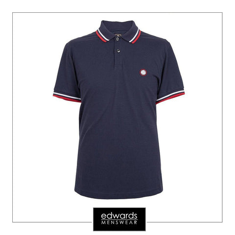 Pretty Green SS Polo in Navy