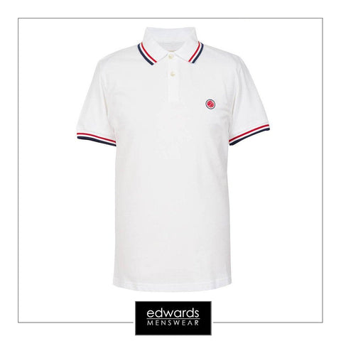Pretty Green SS Polo in White