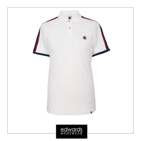 Pretty Green Tilby Moon Polo Shirt in White