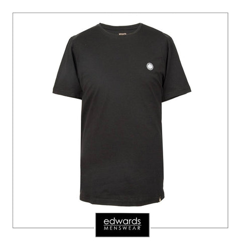 Pretty Green SS Crew Neck Tee Shirt in Black