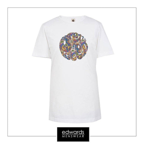 Pretty Green Paisley Tee in White
