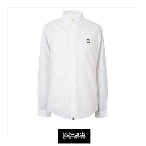 Pretty Green Oldbury Shirt in White