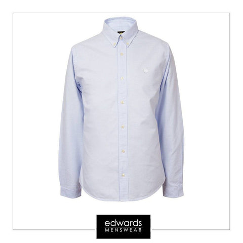 Pretty Green Oldbury Shirt in Sky Blue
