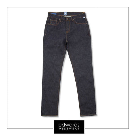 Pretty Green Erwood Slim Fit Jeans In Rinse Wash
