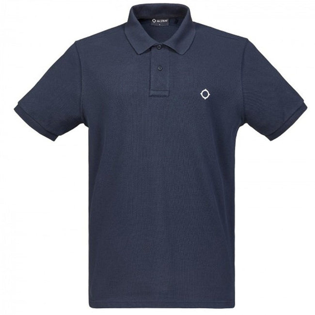 MA.STRUM Pique Icon Polo Shirt in Dark Navy