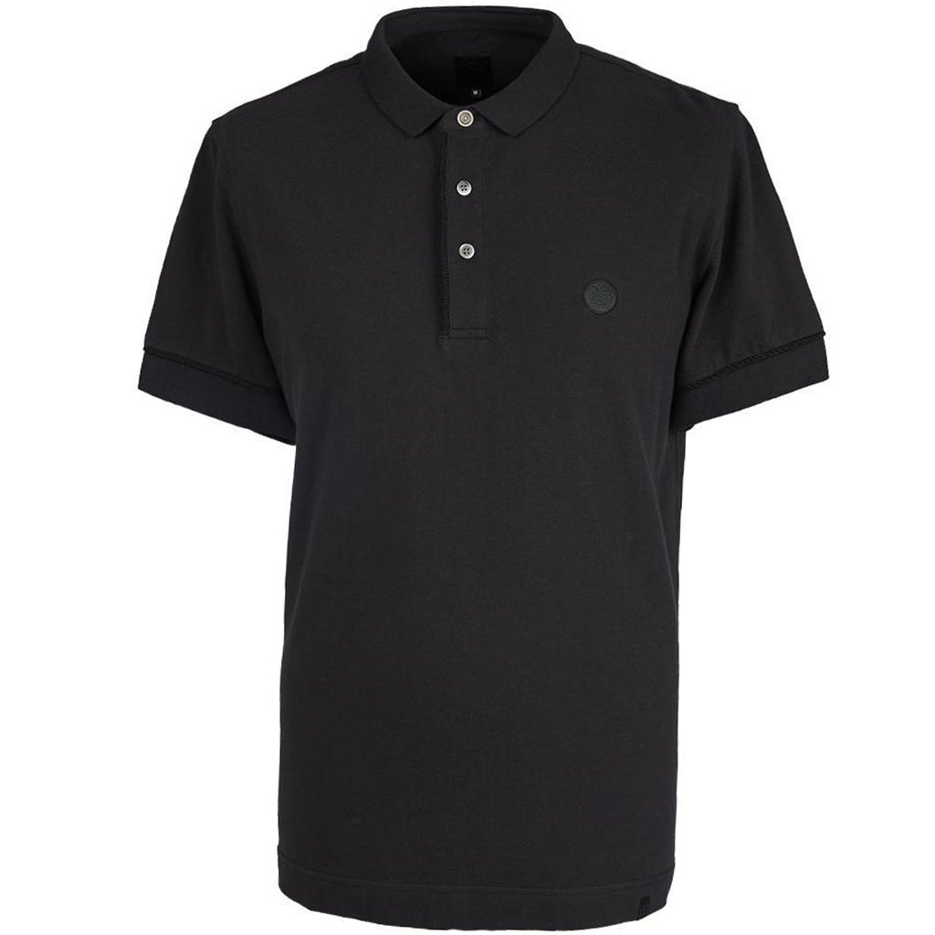 Pretty Green Placket Piping Polo Shirt in Black