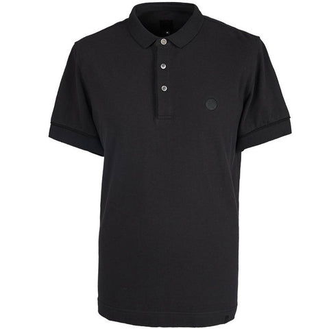 Pretty Green Placket Piping Polo Shirt in Black Polo Shirts Pretty Green