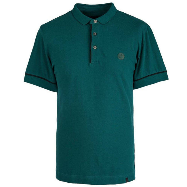 Pretty Green Placket Piping Polo Shirt in Green