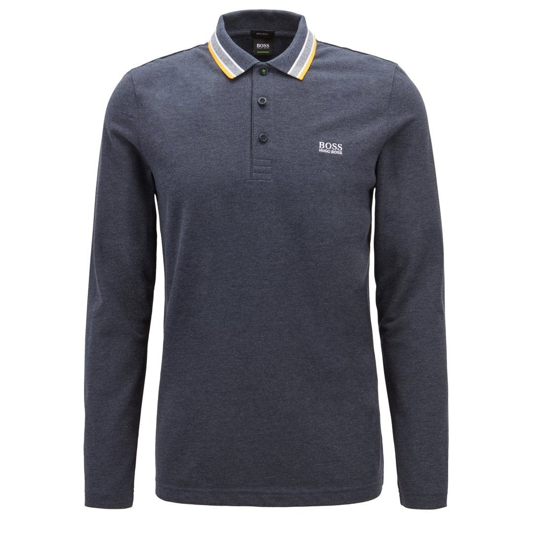 BOSS Athleisure Plisy Regular Fit Polo in Dark Blue
