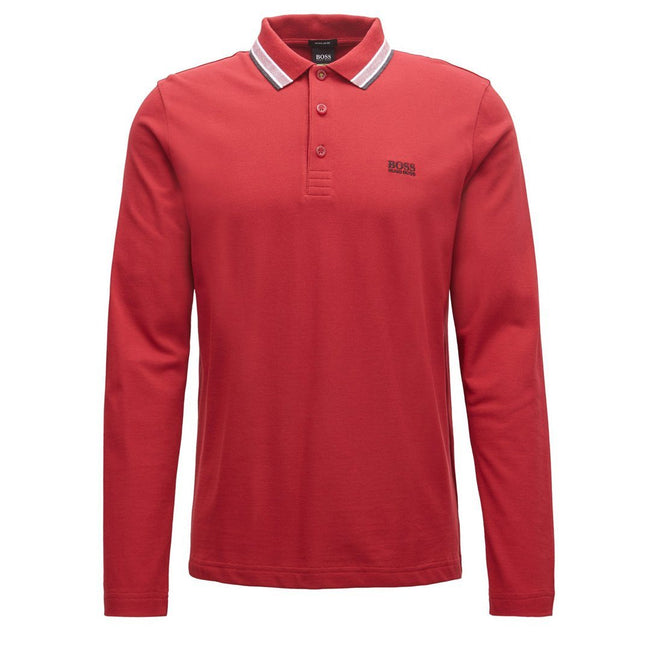 BOSS Athleisure Plisy Regular Fit Polo Shirt in Red