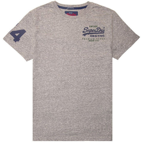 Superdry Premium Goods Essential Lite T- Shirt in Mid Grey Snowy T-Shirts Superdry