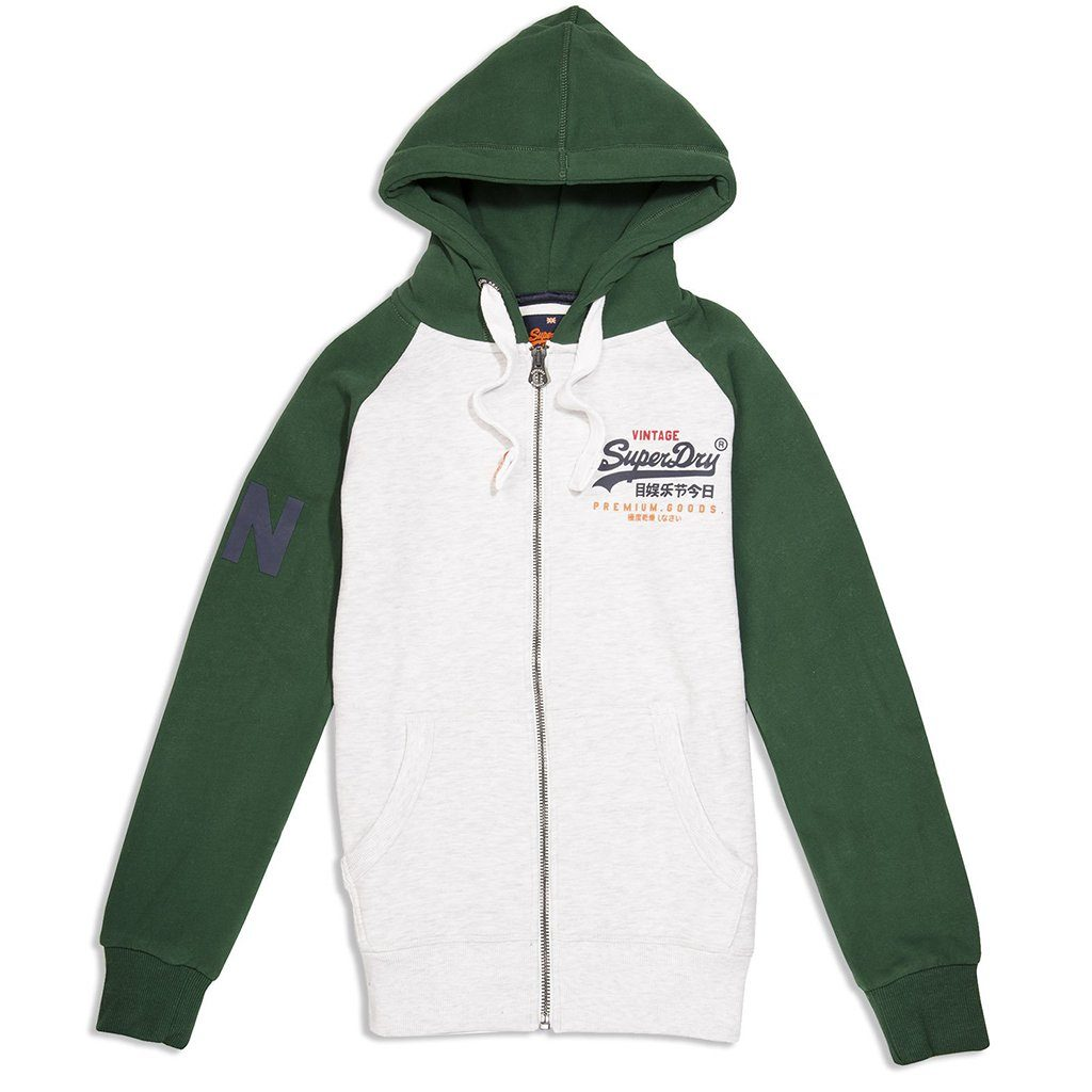 Superdry Premium Goods Raglan Ziphood