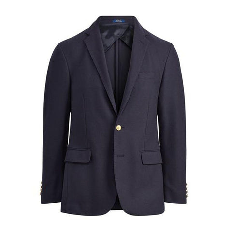 Ralph Lauren Morgan Knit Mesh Blazer Jacket in Blue Edwards Menswear