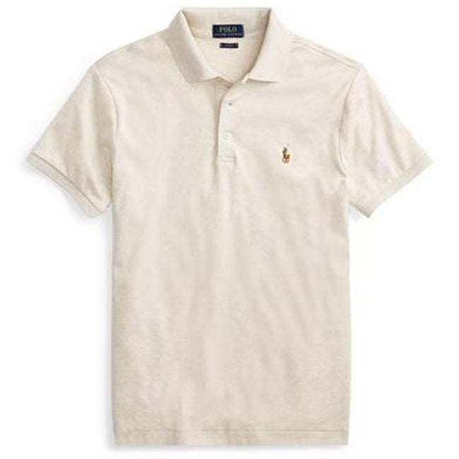 Ralph Lauren Slim Fit Soft Touch Polo in Grey Heather