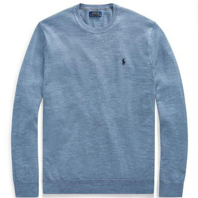 Ralph Lauren Slim Fit Merino Wool Sweater in Light Blue