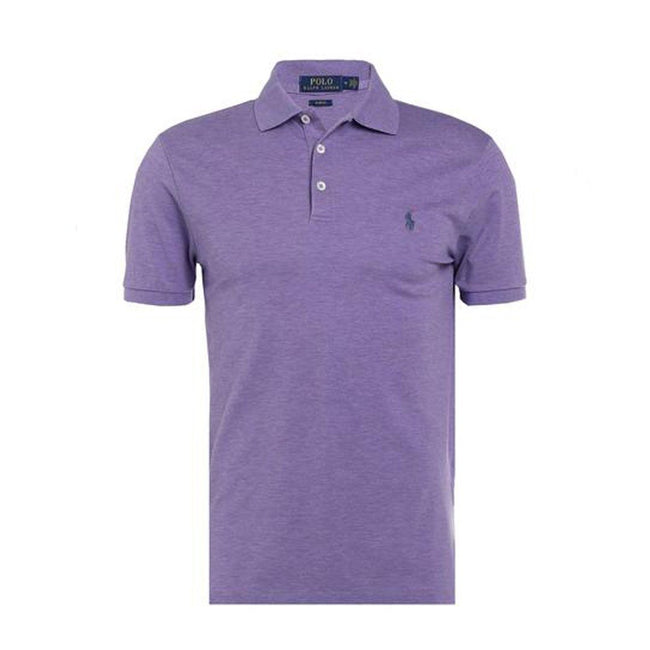 Ralph Lauren Slim Fit Stretch Mesh Polo Shirt in Purple