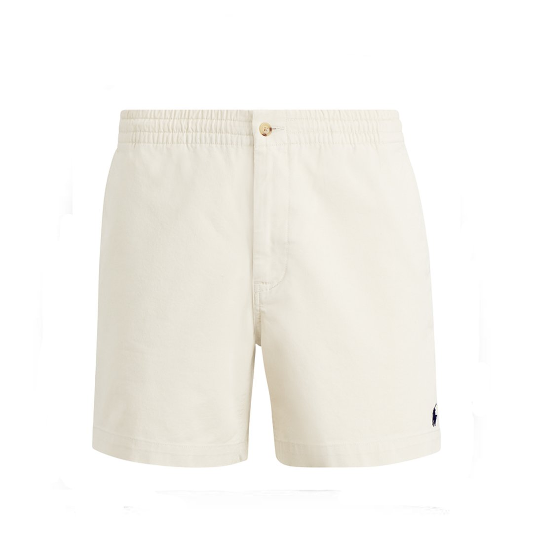 Ralph Lauren Classic Prepster Flat Shorts in Cream