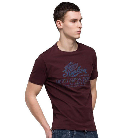 Replay Logo T-Shirt in Mahogany T-Shirts Replay