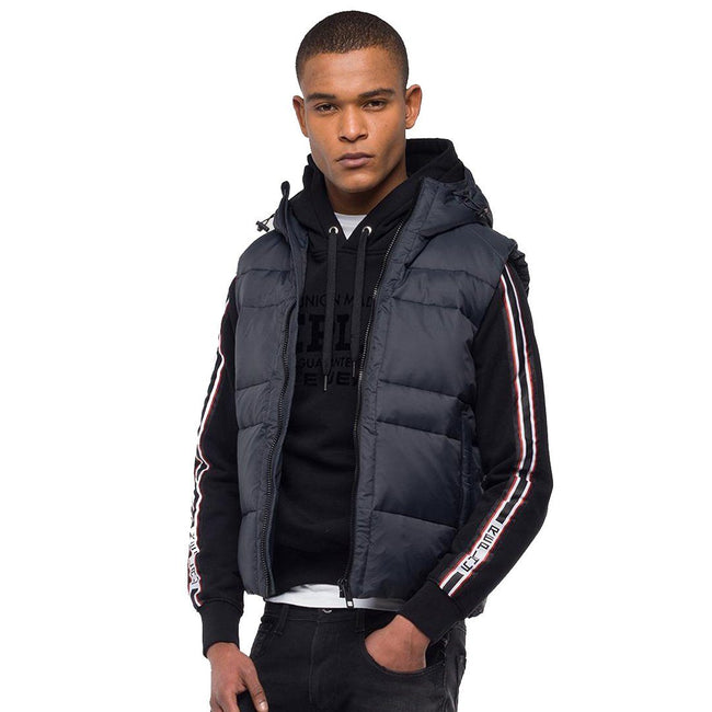 Replay Sleevless Down Jacket Hood in Black