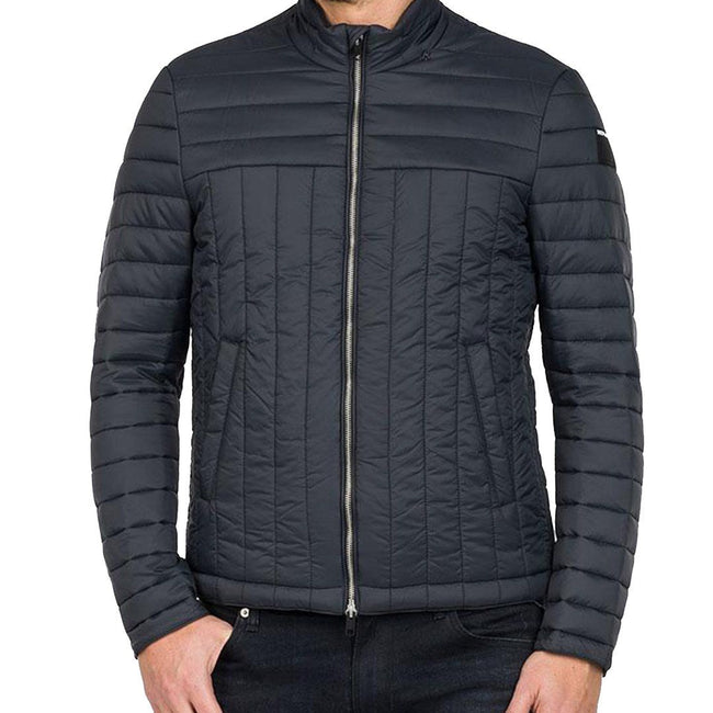 Replay Padded Full Zip Jacket in Black