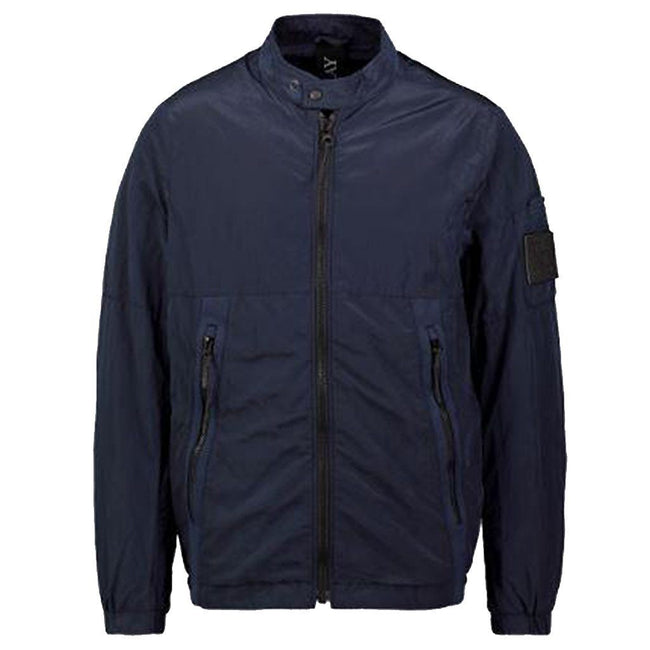 Replay Metallic Soft Shell Jacket in Navy