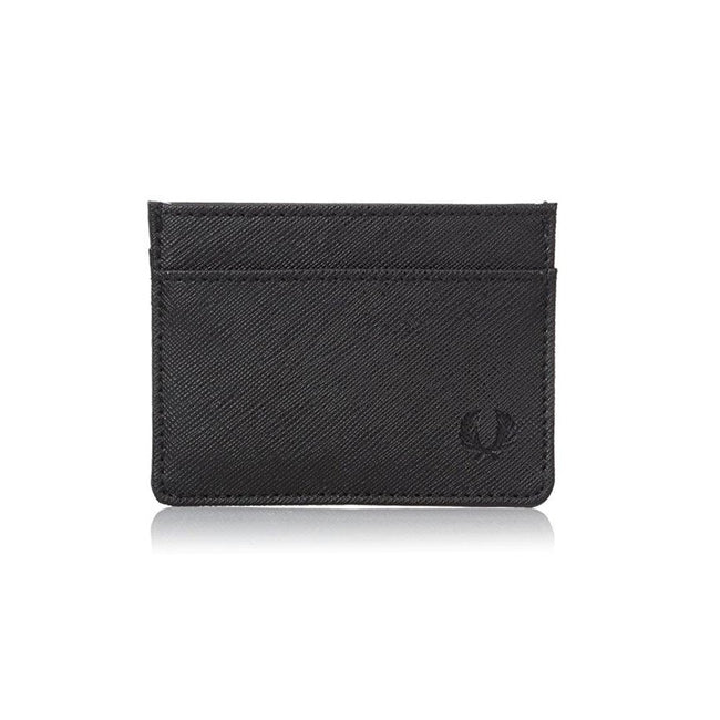 Fred Perry Saffiano Card Holder in Black