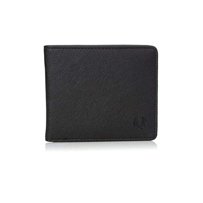 Fred Perry Saffiano Billfold Wallet L3209-102 in Black