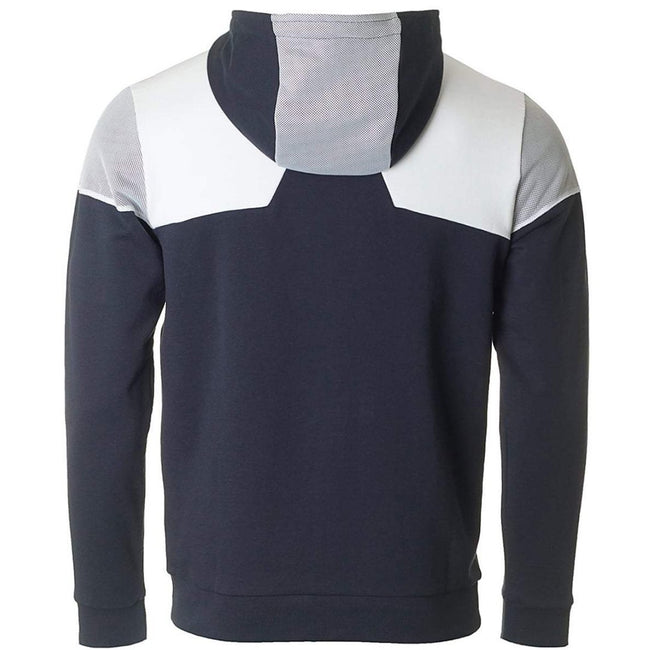 BOSS Athleisure Saggy-1 Ziphood Sweatshirt in Navy / White