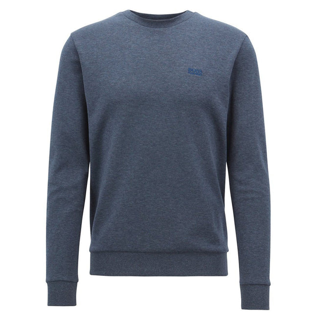 BOSS Athleisure Crew Neck Salbo 1 Sweatshirt in Dark Blue Jumpers BOSS