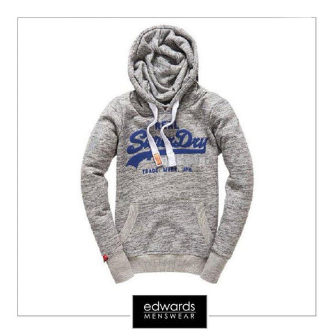 Superdry Vintage Logo Duo Entry Hoody in Light Grey