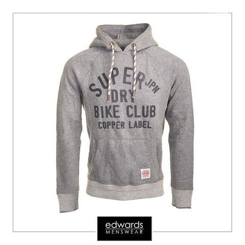 Mens Superdry Copper Label Piston Hood in Bedrock Grindle