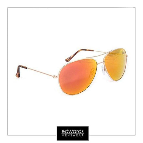 Unisex Superdry Navigator Sunglasses in Gold Flame Revo