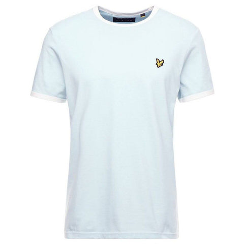 Lyle & Scott Ringer T-Shirt in Blue Shore/Snow White T-Shirts Lyle & Scott