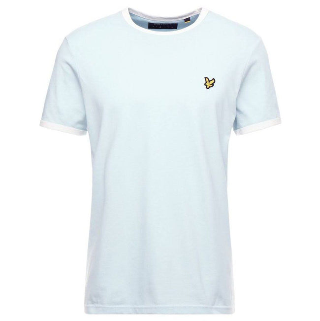Lyle & Scott Ringer T-Shirt in Blue Shore/Snow White