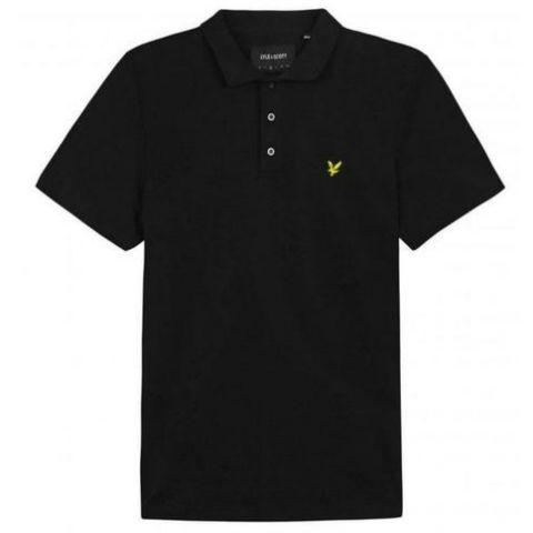 Slim Stretch Polo Shirt in True Black Polo Shirts Lyle & Scott