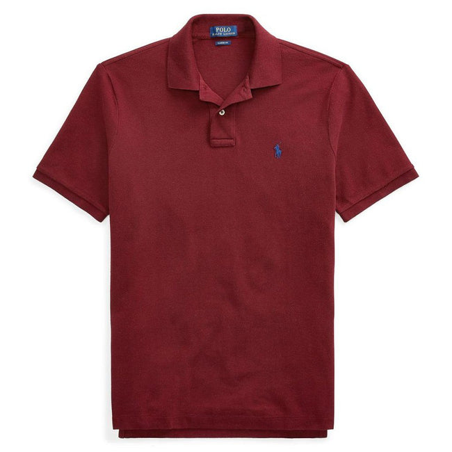 Ralph Lauren Slim Fit Mesh Polo in Burgundy